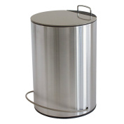 """MSV """"Unna"""" Stainless Steel Pedal Bin, Grey/Brown, 5 Litre"""