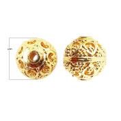 18K Gold Overlay Bali Bead BG-259-12MM