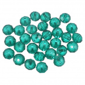 70PCS Malachite Green Crystal Glass Faceted Rondelle Beads Charm for DIY Jewellery Making Findings 8mm