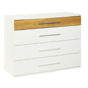 Stratford 4 Drawer Chest Woodgrain/White