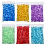 Antner 6 Pack Fishbowl Beads for Crunchy Slime Vase Filler Beads Fish Bowl Beads for Homemade Slime, Arts DIY Crafts, Wedding and Party Decoration, 330mls