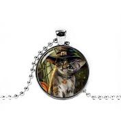 Kitten Necklace, Cute Halloween Cat Pendant Cat Jewellery