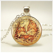 Lover, fox pendant, lover's necklace, woman's jewellery