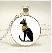 Egyptian Cat Gods Pendant , Necklace ,For Women Dress Jewellery