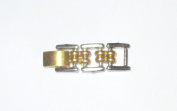"Two Tone 1 1/4"" 6mm Gold Tone Silver Tone Fold Over Extender"