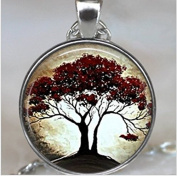 Moonlight and Oak Tree pendant, tree necklace, nature lover jewellery