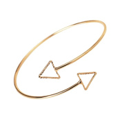 Hongxin New Fashion Geometric Hollowed Triangular Arm Rings Upper Arm Cuff Armlet Bracelet Alloy Jewellery Chain (Size