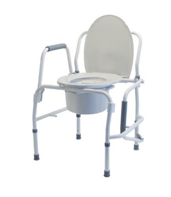 Drop Arm Bedside Commode with Arms