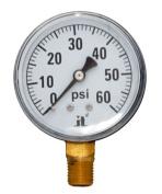 Zen-Tek DPG60 Dry Air Pressure Gauge, 60 PSI