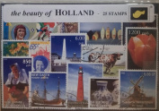 The Beauty of Holland - 25 Stamps [Paperback]