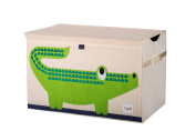 3 Sprouts Toy Storage Chest, Green Crocodile