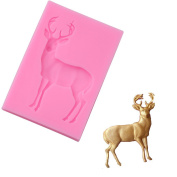 Chinget 3D Christmas Deer Silicone Fondant Chocolate Mould Cake Decor Icing Sugarcraft Mould