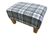 Footstool/ pouffee in a slate grey tartan fabric....also available in different coloured fabrics...just ask and we can make it for you