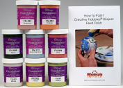 Mayco FNKIT-1 Foundations Glaze For Ceramics 8 Best Selling Colours in 120ml Jars with Free How to Paint Ceramics Booklet