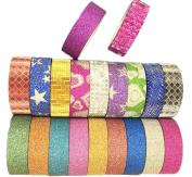LAAT 20 Rolls Sparkle Glitter Tape School Office Scrapbooking Masking Sticky Art Craft TapeAdhesive