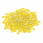 Fityle 250 Pieces Many Colour Square Glass Mosaic Tiles For Mosaic Making Craft - Yellow