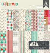 Authentique Double-Sided Cardstock Pad 30cm x 30cm 24/Pkg-Colourful Christmas
