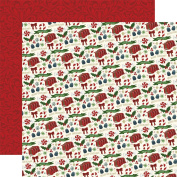 Twas The Night Before Christmas Dbl-Sided Cardstock 30cm x 30cm -Candy Christmas