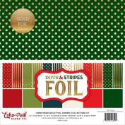 Echo Park Double-Sided Collection Pack 30cm x 30cm 12/Pkg-Christmas Stripes W/Gold Foil