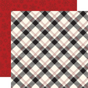 Twas The Night Before Christmas Dbl-Sided Cardstock 30cm x 30cm -Present Plaid