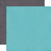 A Perfect Winter Double-Sided Cardstock 30cm x 30cm -Light Blue/Grey Solid