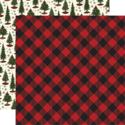 Twas The Night Before Christmas Dbl-Sided Cardstock 30cm x 30cm -Red Buffalo Plaid