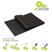 Smart Fab Disposable Fabric, 9 X 12 Sheets, Black, 45 Per Pack