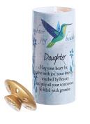 Daughter Candle - Ceramic Candle Warmer, Daughter, Sentimental, Keepsake, Daughter Birthday Gift, Inspiring Daughter Saying, Gifts for Her