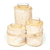 Koyal Wholesale Birch Wedding Birch Log Candle Holder, Real Wood Decorations, Centrepieces, Log Decor
