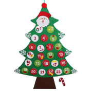Ourwarm Felt Christmas Tree Advent Calendar, Wall or Door Hanging Christmas Decorations
