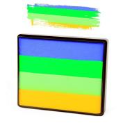 Silly Farm Rainbow Split Cake - Bright