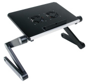 Qiaoba- The Couch Notebook Lapdesk aluminium alloy desk foldable, Black