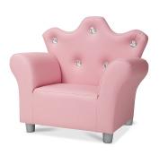 Melissa & Doug Child's Crown Armchair - Pink Faux Leather Children's Furniture