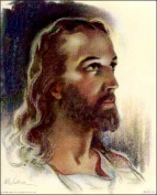 Jesus Christ by Sallman Paper Tole 3D Decoupage Craft Kit size 6x8 2297