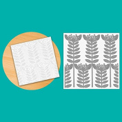 TODO Paper Card Texture Craft 15cm x 15cm Embossing Folder - Floral Posy Stems