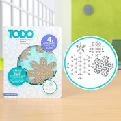 TODO Paper Card Craft Letterpress and Hot Foil Plate - Modern Flower Stack