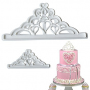 Crown 2pcs/Set plastic fondant cutter cake mould fondant mould fondant cake decorating tools sugarcraft