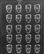 Grandmama's Goodies H175 B/S Skulls Chocolate Candy Soap Mould with Exclusive Moulding Instructions