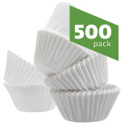 Standard Size White Cupcake Paper | Baking Cups | Cup Liners, Pack of 500