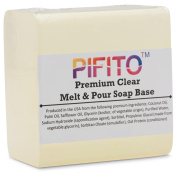 Pifito Premium Clear Melt and Pour Soap Base (0.9kg) - Natural Vegetable Glycerin Base - Excellent Hand Soap Making Supplies