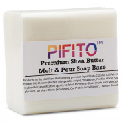 Pifito Premium Shea Butter Melt and Pour Soap Base (0.9kg) - Natural Vegetable Glycerin Base - Excellent Hand Soap Making Supplies