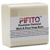 Pifito Premium Oatmeal Melt and Pour Soap Base (0.9kg) - Natural Vegetable Glycerin Soap Base - Excellent Hand Soap Making Supplies