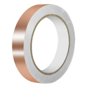 URXTRAL Copper foil tape with Dual Conductive Adhesive(2cm X 22yards)for EMI Shielding, Slug Repellent, Stained Glass, Soldering, Paper Circuits, Electrical Repairs, Grounding