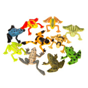 Plastic Frogs Party Bag Fillers, Pack of 10