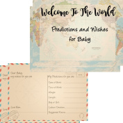 16 Baby Predictions & Wishes Cards For Baby Shower Games Welcome To The World