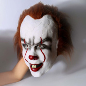 halloween clown mask for men|Horror mask pennywise 2017 movie Stephen King's mask for men, latex mask scary for adult costume cosplay decorations