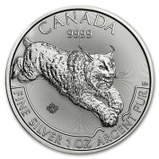 """Pure silver dignity of """"entering clear case made in Lynx (lynx) silver coin 30ml 5120cm Canada Royal Family Mint Bureau publication 31.1g"""