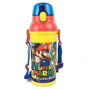 Super Mario dishwasher-adaptive direct drink plastic one-touch bottle 375880 (PSB5SAN) 480 ml Super Mario 17/ Mario Brothers / Luigi / water bottle / kids / lunch goods / lunch goods / Nintendo / Nintendo / skater