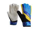 Mitre Sports International Magnetite Junior Soccer Goalie Gloves, Black/Cyan/Yellow, Size 5