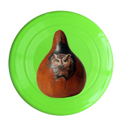Sanding Flying Disc Frisbee Gugize Owl On The Gourd
